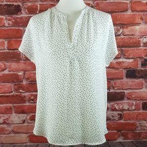 Lauren Conrad white short-sleeve blouse